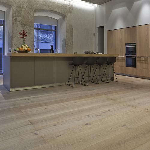 Custom, hand made European oak floor