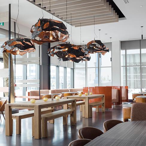 Custom Hardwood Flooring in Restaurants