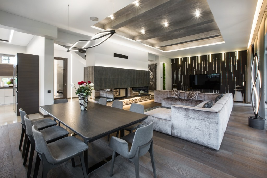 Custom hardwood flooring,wooden wall panels, staircase; engineered hardwood flooring, house in pinewood;