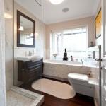 Custom Wood Flooring in the Bathroom