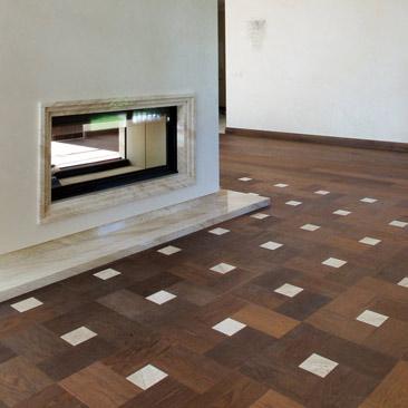 mozaikinis parketas, modulinis parketas, parketlentės blokais, grindys pynutės raštas