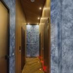 Indonezijos tiko lentos, medinės lentos vonios kambaryje