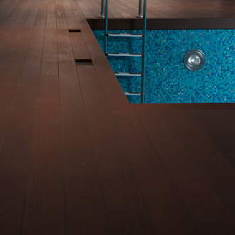 Spa center wood decking