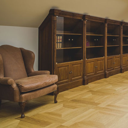 Custom, handmade parquet flooring