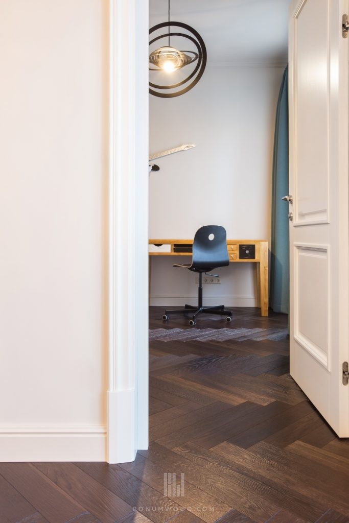 bespoke herringbone wood flooring